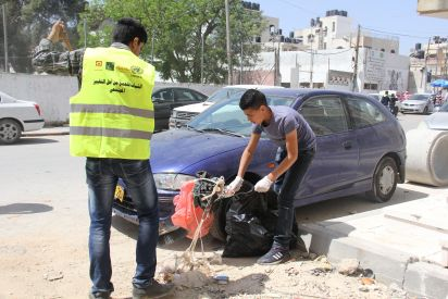 بيالارا ووكالة الغوث  تنفذان حملة نظافة بعنوان