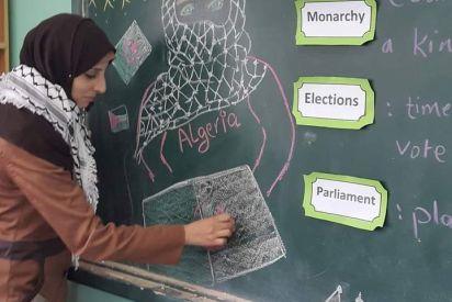 معلمة غزية رفعت اسم فلسطين بتميزها دوليا